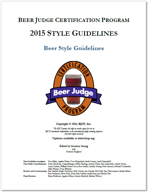 Beer Judge Certification Program 2015 Style Guidelines