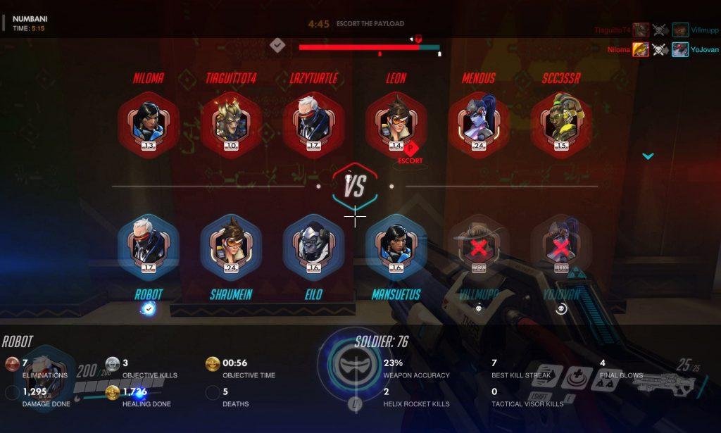 Imagenes de los jugadores sin datos de la partida actual